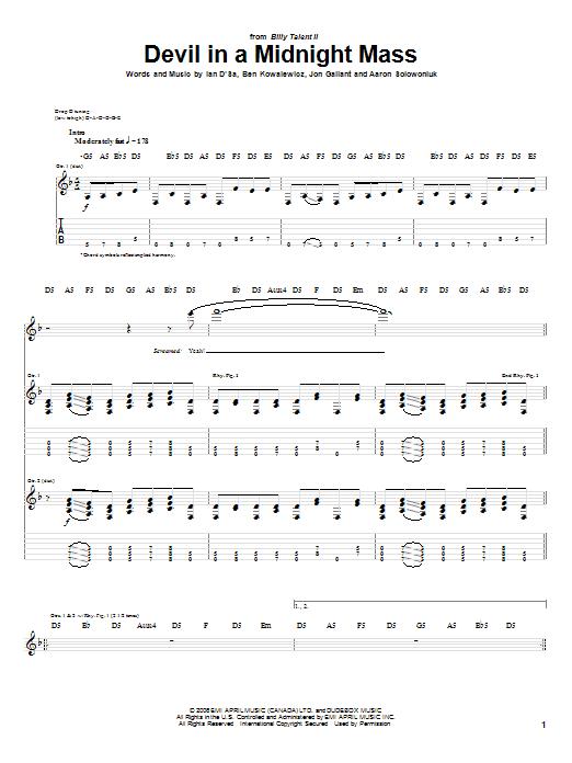 Devil In A Midnight Mass sheet music