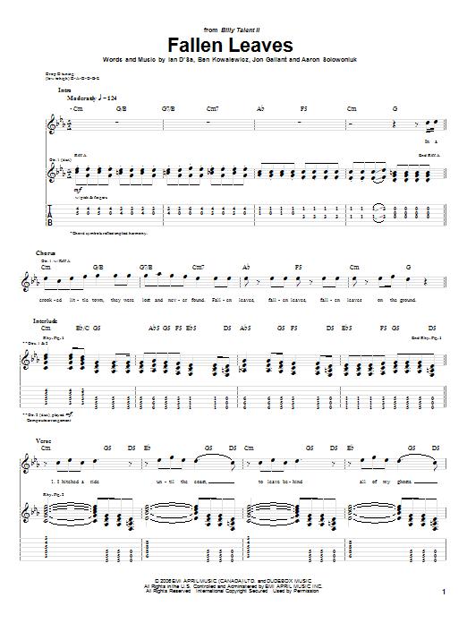 Fallen Leaves sheet music
