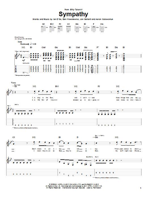 Sympathy sheet music