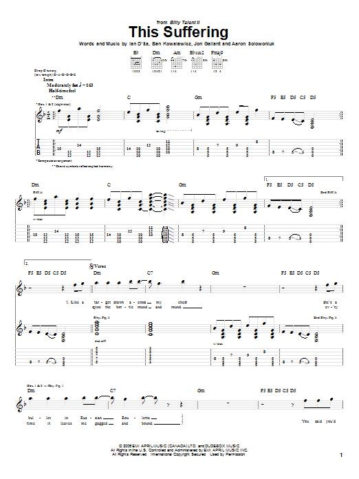 This Suffering sheet music
