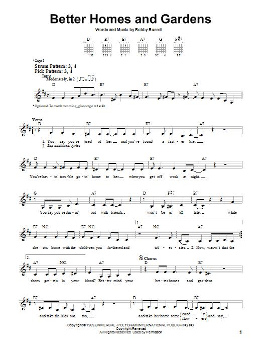 Better Homes And Gardens sheet music