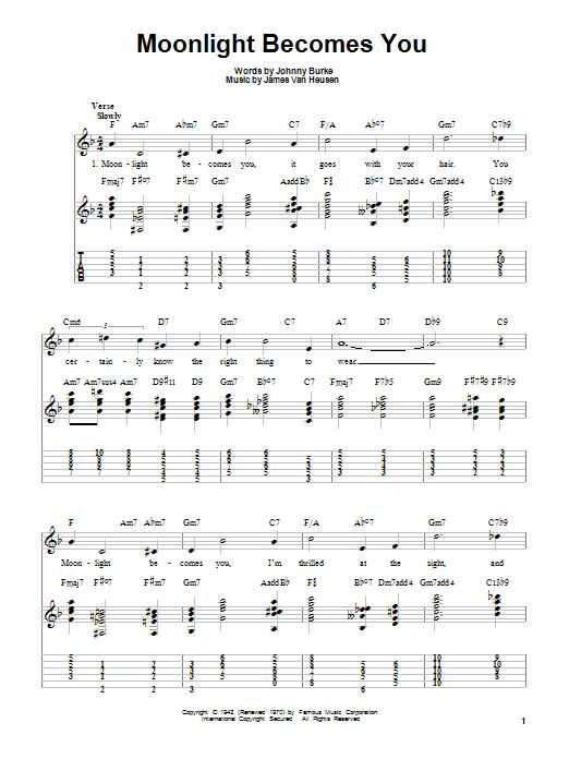 Moonlight Becomes You sheet music