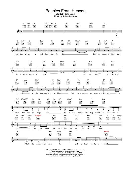 Pennies From Heaven sheet music
