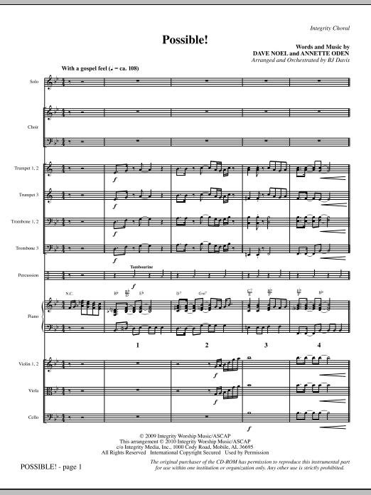 Possible! - Full Score sheet music