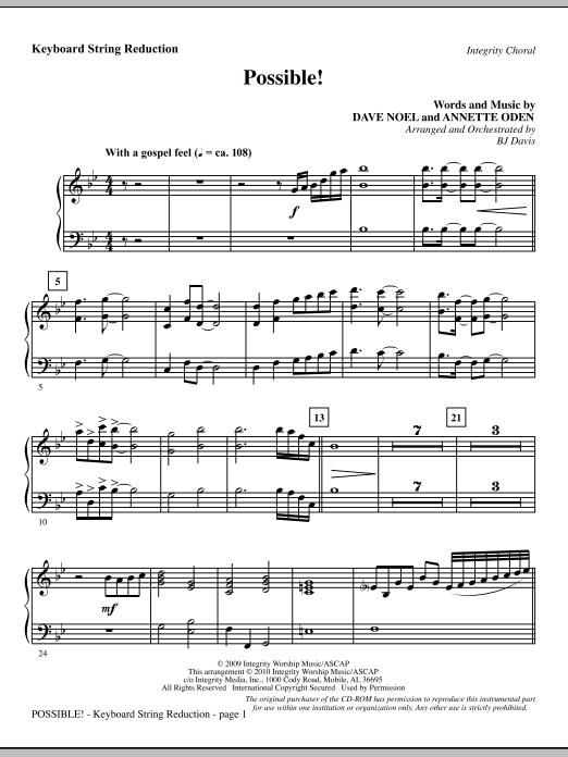 Possible! - Keyboard String Reduction sheet music