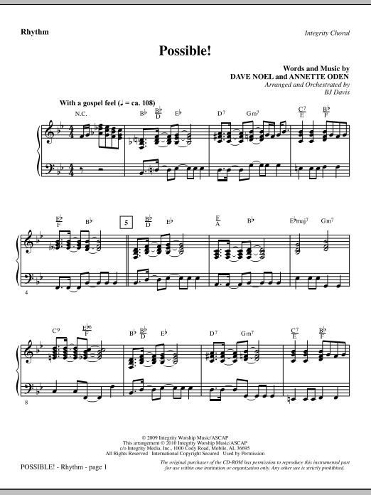 Possible! - Rhythm sheet music
