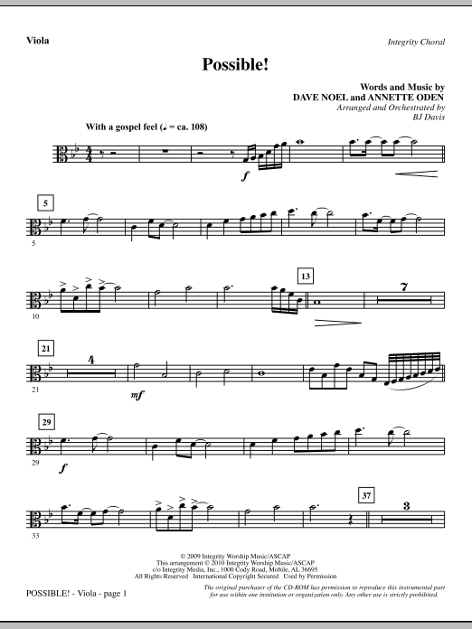 Possible! - Viola sheet music