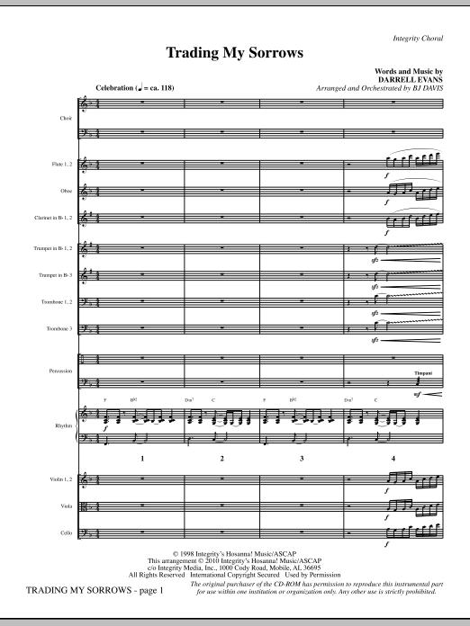 Trading My Sorrows - Full Score sheet music