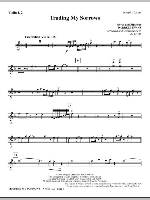 Trading My Sorrows - Violin 1, 2 sheet music