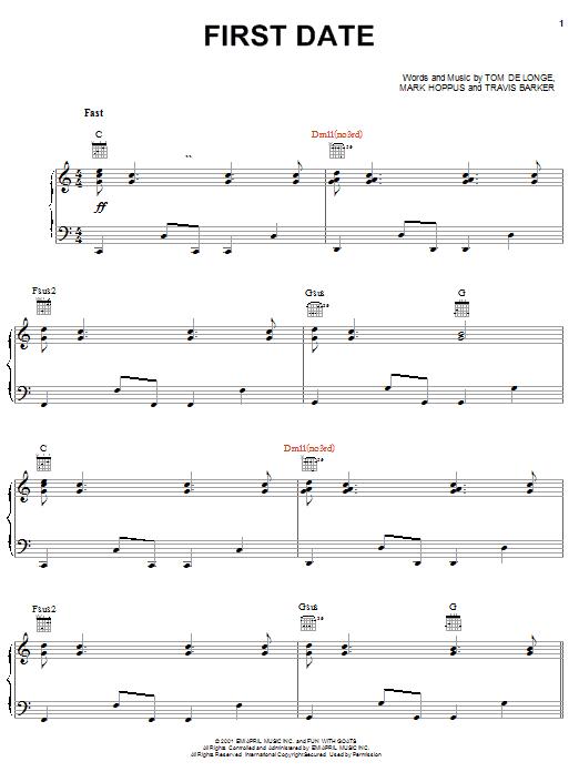 First Date sheet music