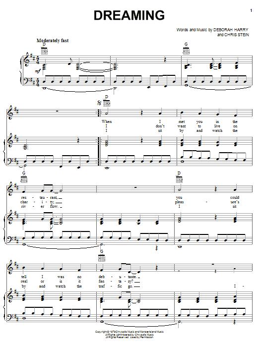 Dreaming sheet music