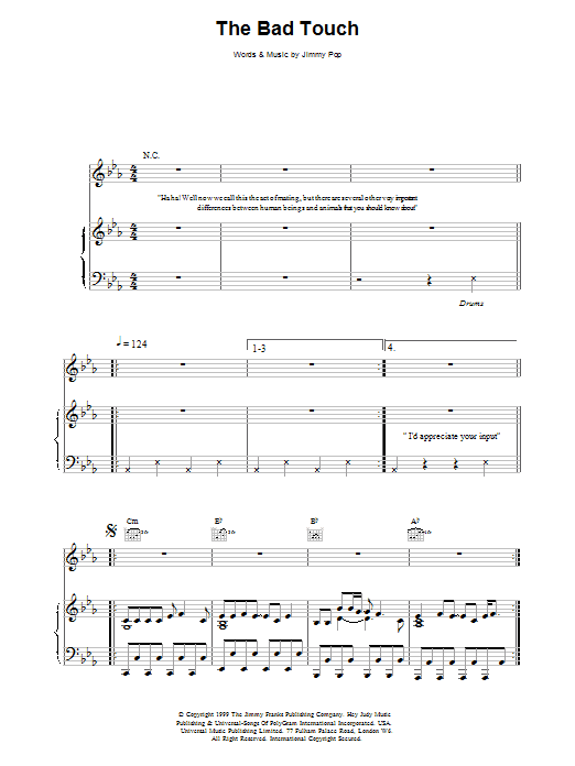 The Bad Touch sheet music