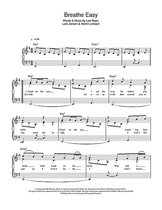 Breathe Easy sheet music