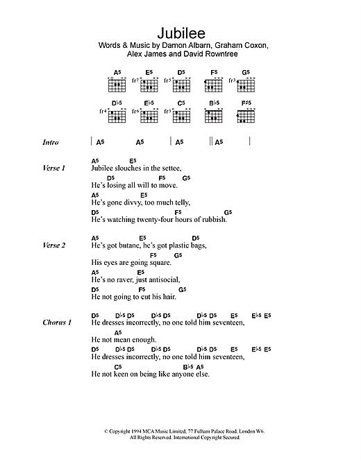 Jubilee sheet music