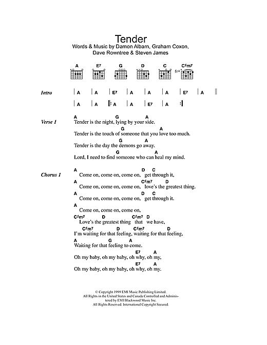 Tender sheet music