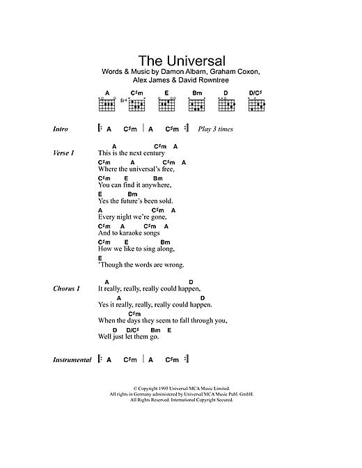 The Universal sheet music