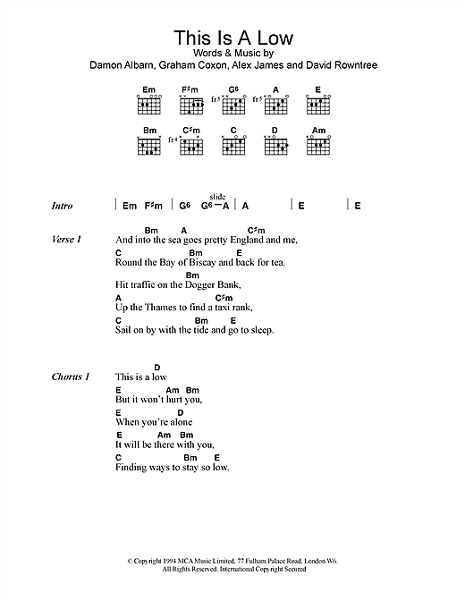 This Is A Low sheet music