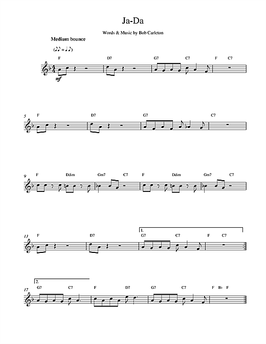 Ja-Da sheet music