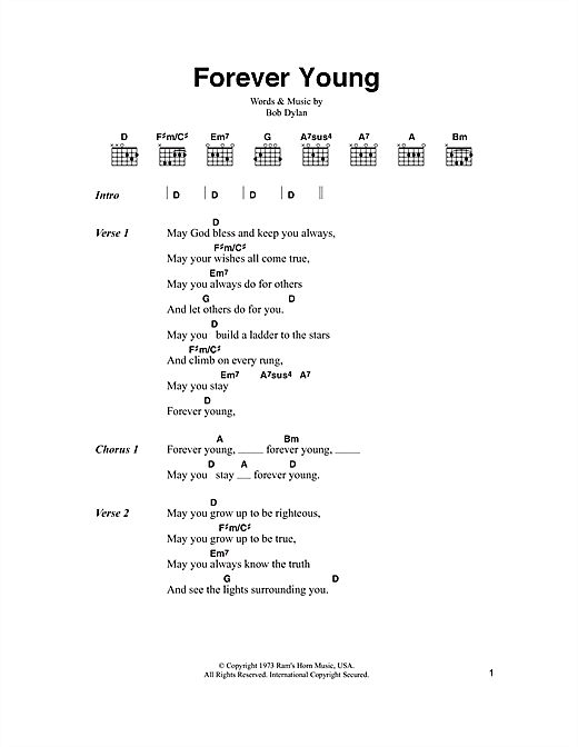 Forever Young sheet music