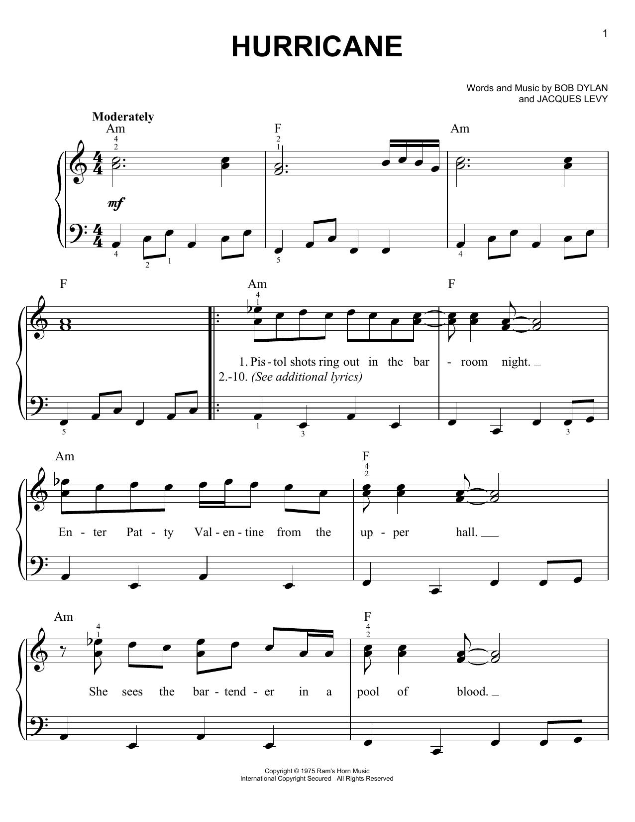 Hurricane sheet music