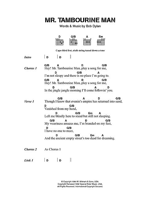 Mr. Tambourine Man sheet music
