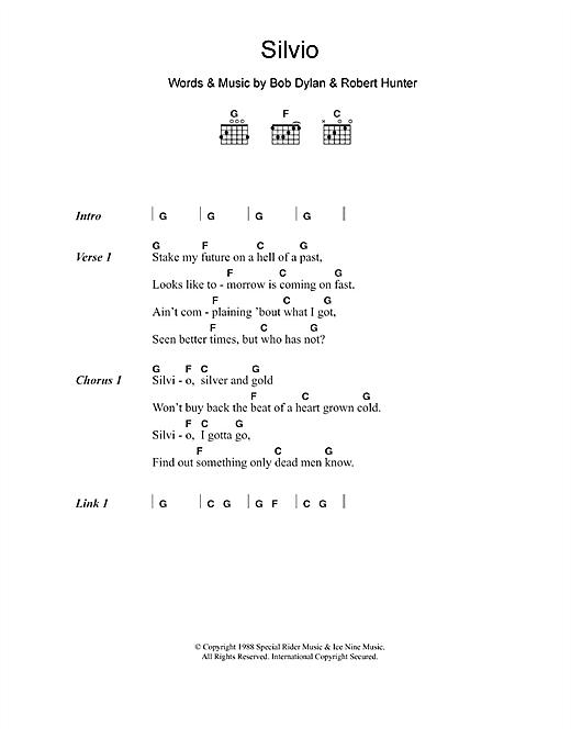 Silvio sheet music