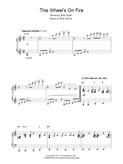 This Wheel's On Fire (theme from Absolutely Fabulous) sheet music
