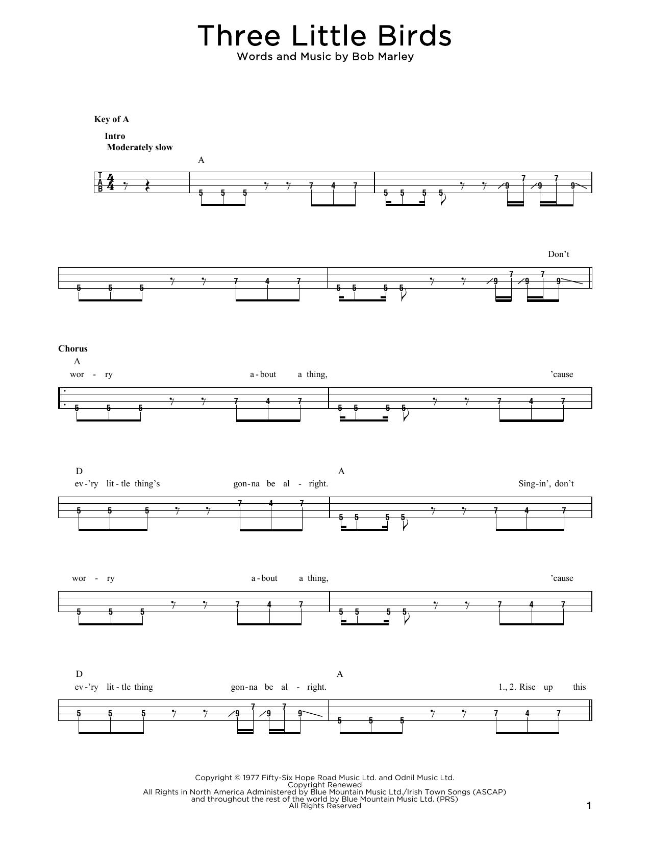 Three Little Birds sheet music
