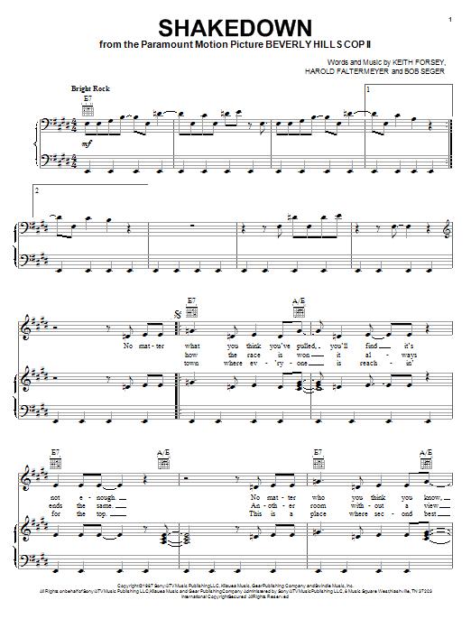 Shakedown sheet music