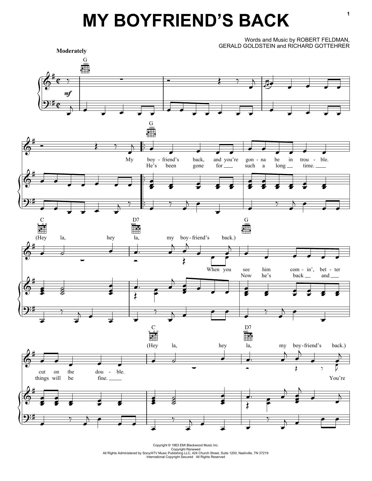 My Boyfriend's Back sheet music