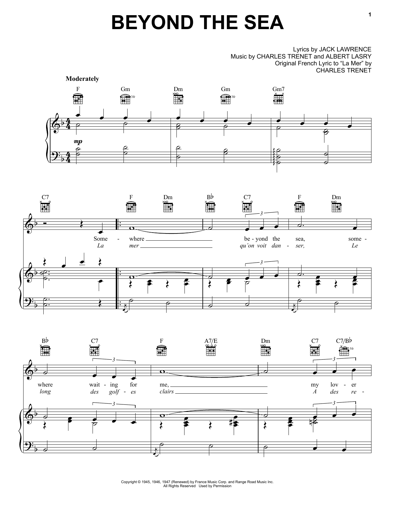 Beyond The Sea sheet music
