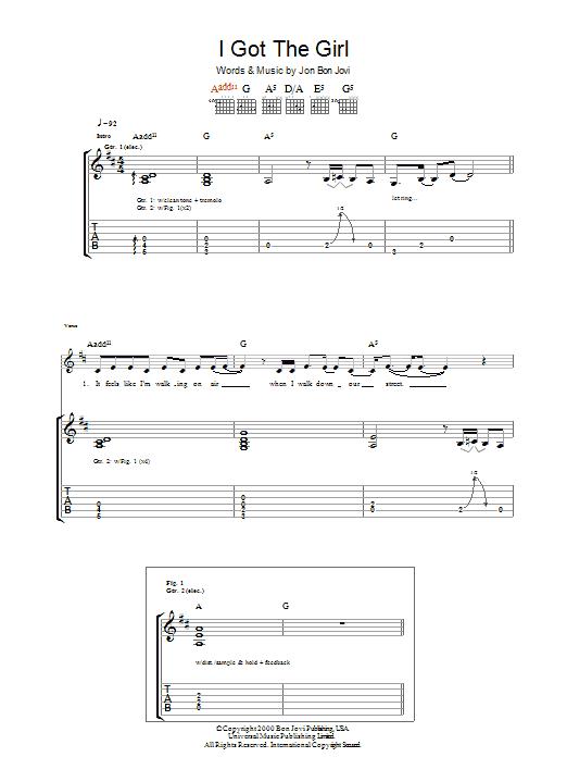 I Got The Girl sheet music