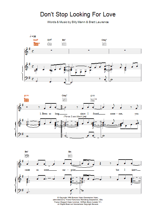 Don't Stop Looking For Love sheet music