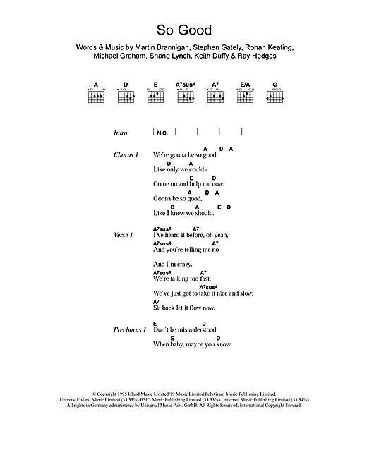 So Good sheet music