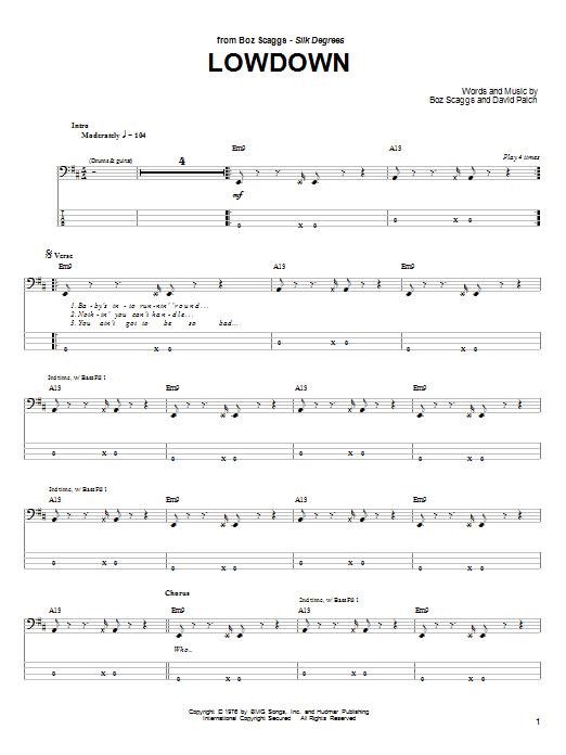 Lowdown sheet music