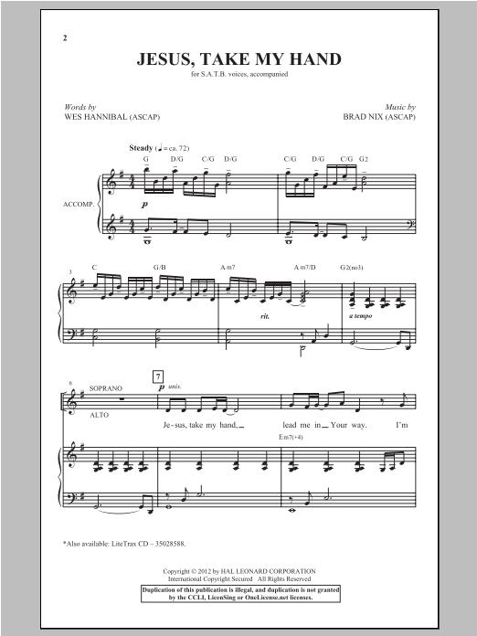 Jesus, Take My Hand sheet music