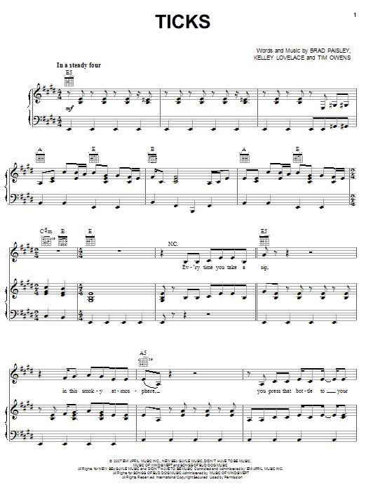 Ticks sheet music