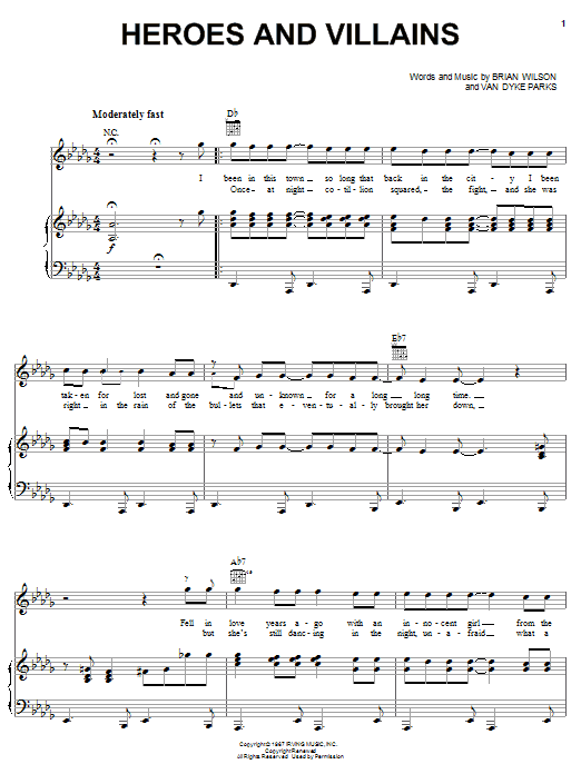 Heroes And Villains sheet music