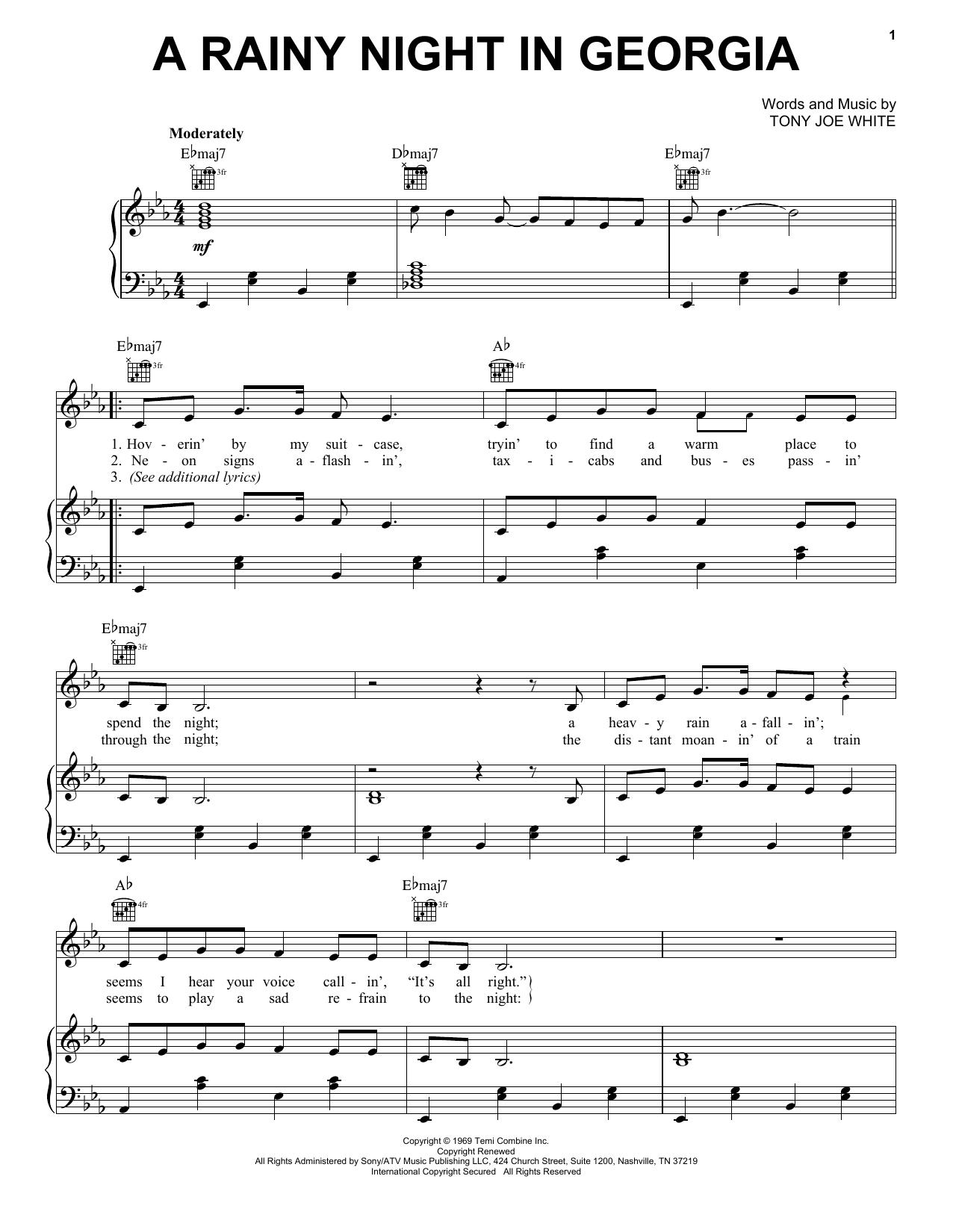 A Rainy Night In Georgia sheet music