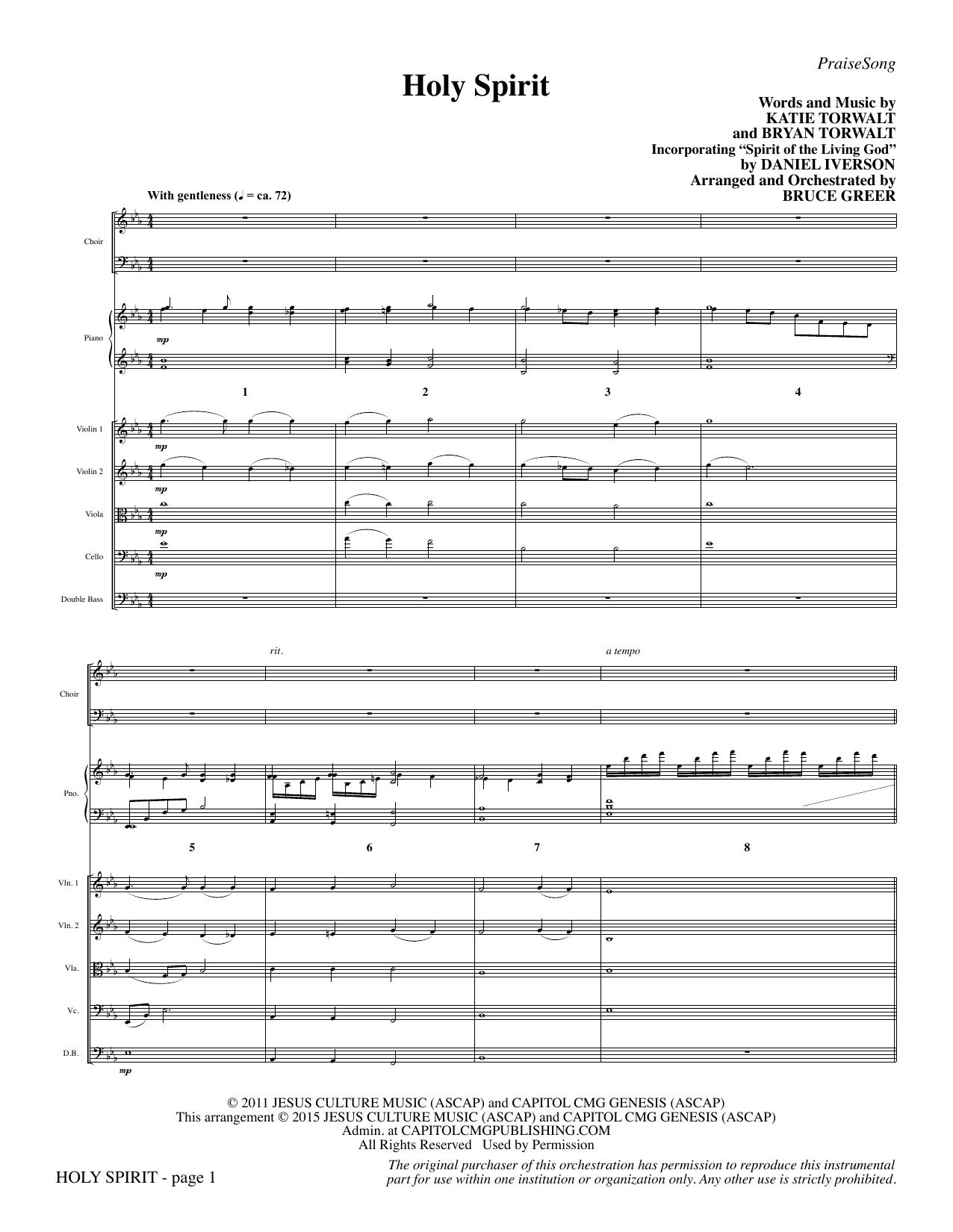Holy Spirit - Full Score sheet music