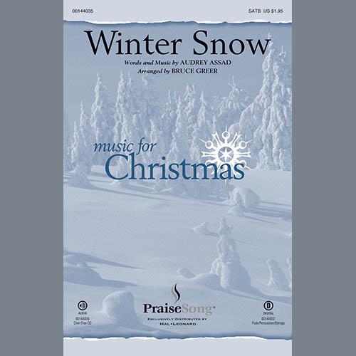 Bruce Greer, Winter Snow - Double Bass, Choir Instrumental Pak