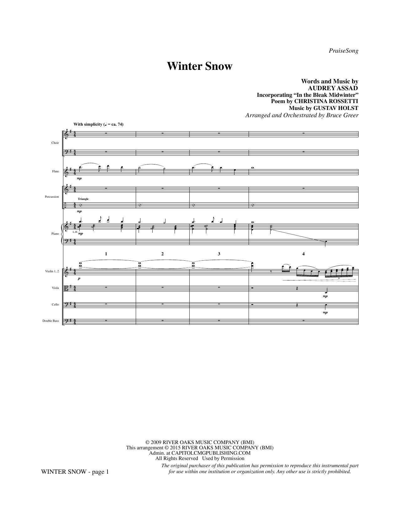 Winter Snow - Full Score sheet music