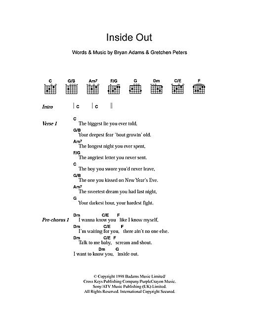 Inside Out sheet music
