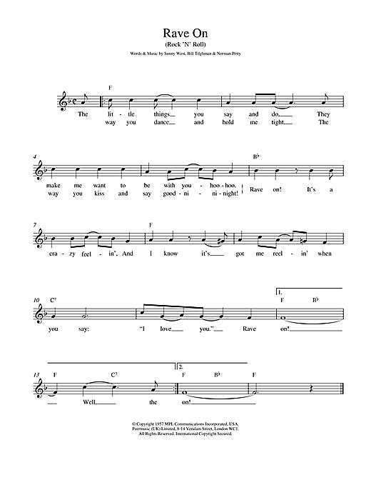 Rave On sheet music