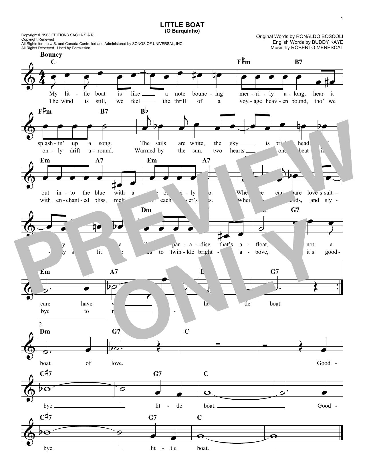Little Boat (O Barquinho) sheet music