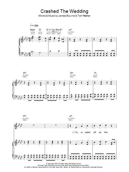 Crashed The Wedding sheet music