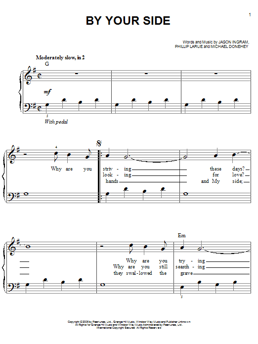 By Your Side sheet music