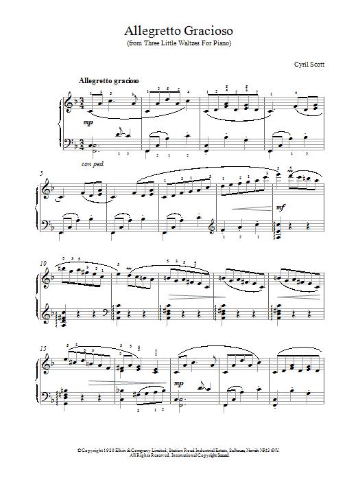 Allegretto Gracioso sheet music