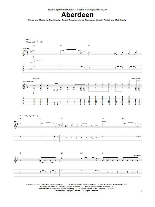 Aberdeen sheet music