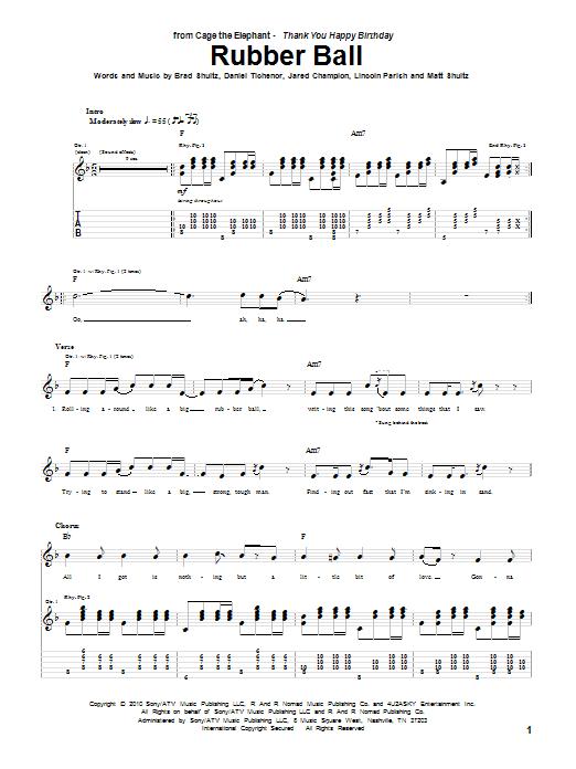 Rubber Ball sheet music